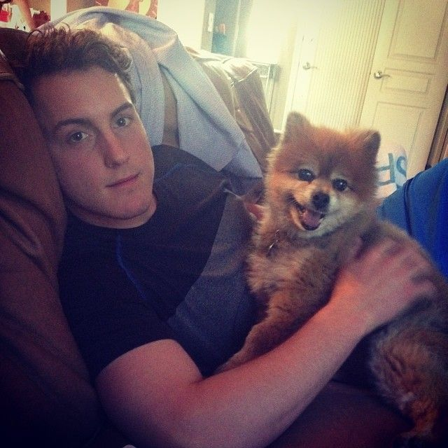 Colorado Avalanche: Tyson Barrie and his dog, Bear