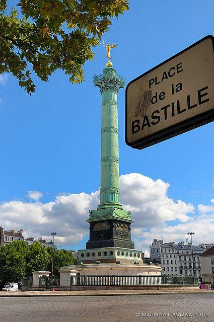 La Bastille, Place de la Bastille, Paris XI -  Lieu symbolique de la révolution française