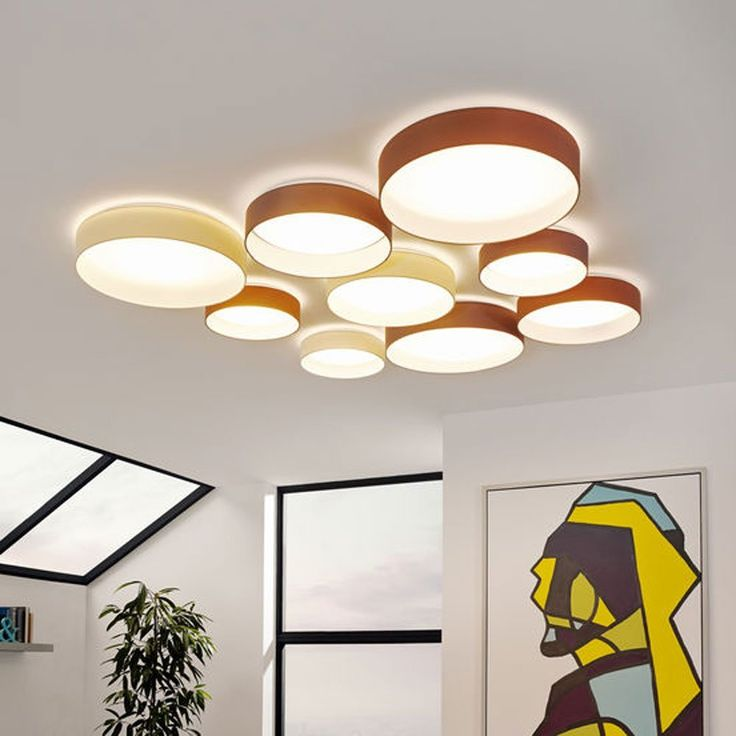 LICHT TREND LED Deckenlampe PALO 133W O32cm Textilschirm Taupe