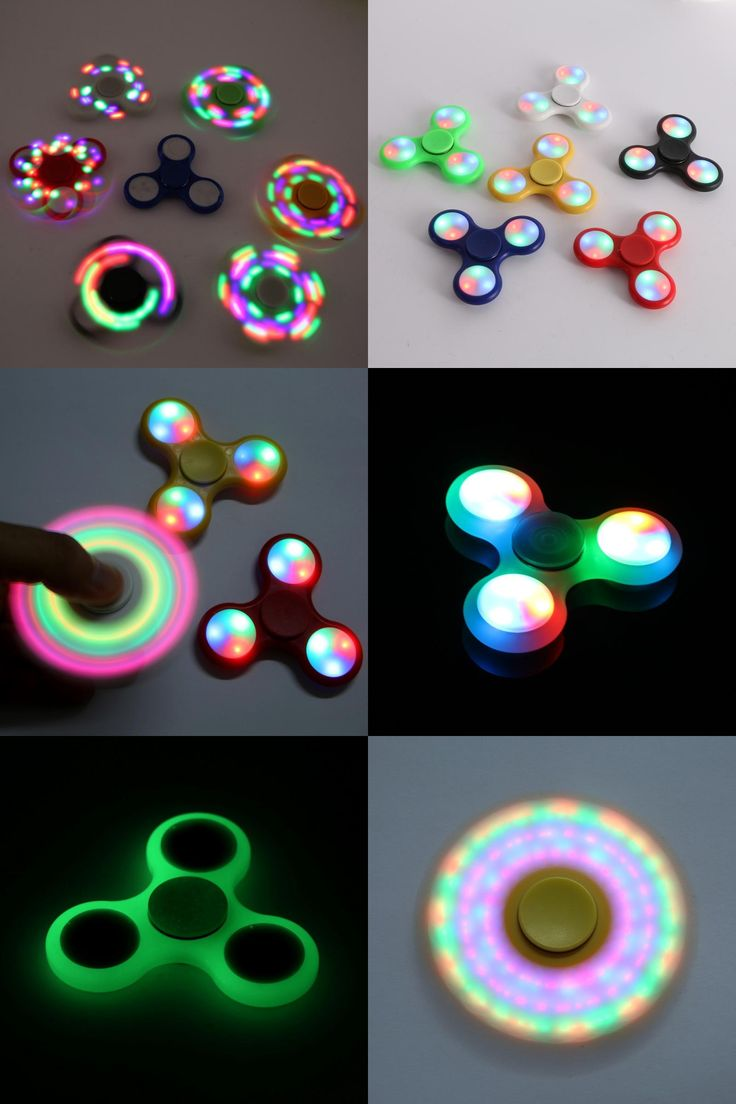 [Visit to Buy] LED Light Hand Finger Spinner Fidget Outdoor tools Plastic EDC Hand Spinner Autism ADHD Relief Focus Anxiety Stress Toys tools #Advertisement