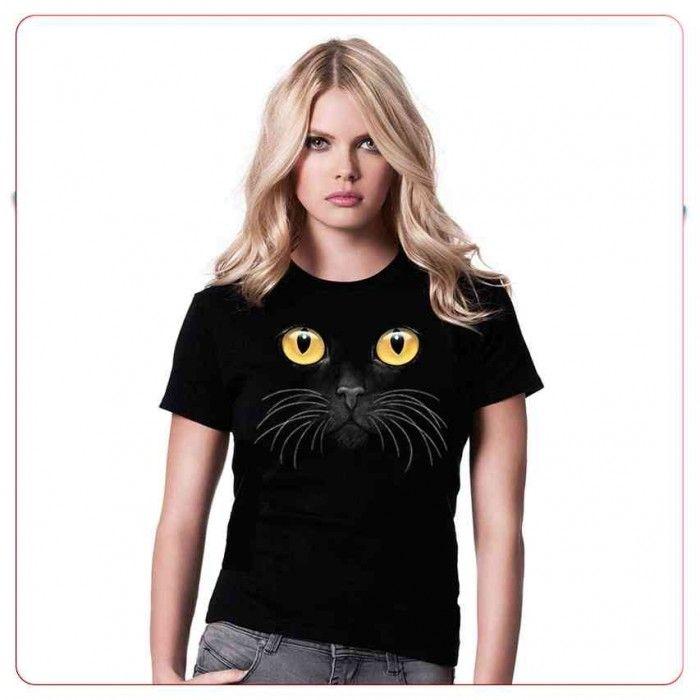Cadouri pentru iubitorii de animale – Tricou Pisica neagra