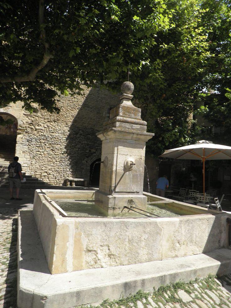 World War 1 Memorial Fountain in Gordes, Provence, France.