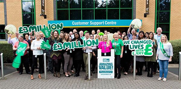 [news] Poundland raises £3m for Macmillan Cancer Support
