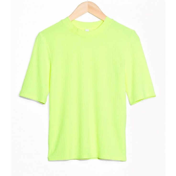 Neon Brights & Other Stories Neon Ribbed Top, $20