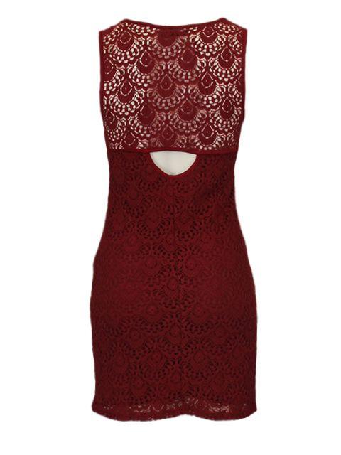 Bordeaux jurk - Korte jurken - BoBo Tremelo