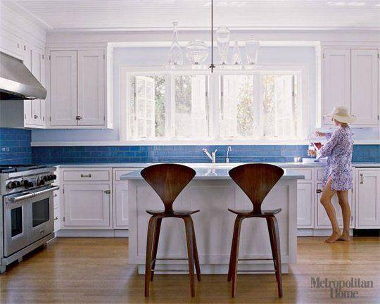 Blue And White Kitchen Tiles