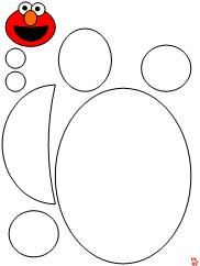 Elmo shape cut & paste printable