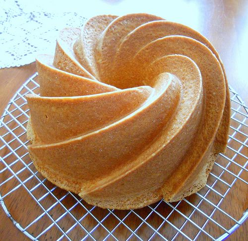 Whipped Cream Pound Cake Recipe (Pastry Chef Online), batter made with half & half and sour cream