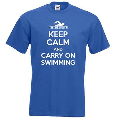 Keep calm carry on swimming freestyle water sport #funny #slogan mens boys #t-shi,  View more on the LINK: http://www.zeppy.io/product/gb/2/161113254617/