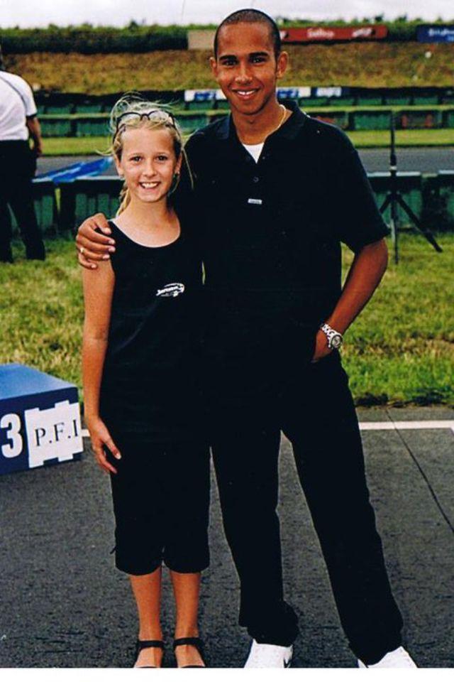Hannah and Lewis. Kartmasters PFI August 2000