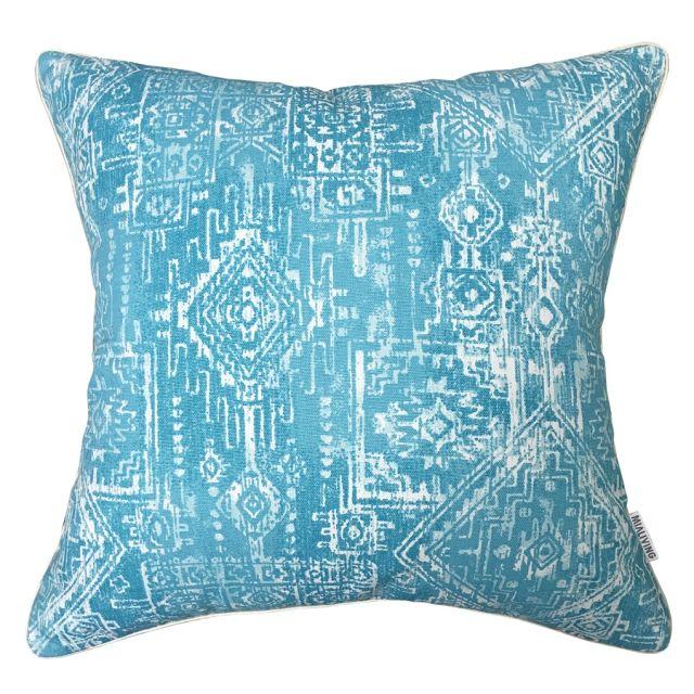 Aztec Blue Pillow #pillows #throwpillow #interiors #homedecor #cushions #mialiving