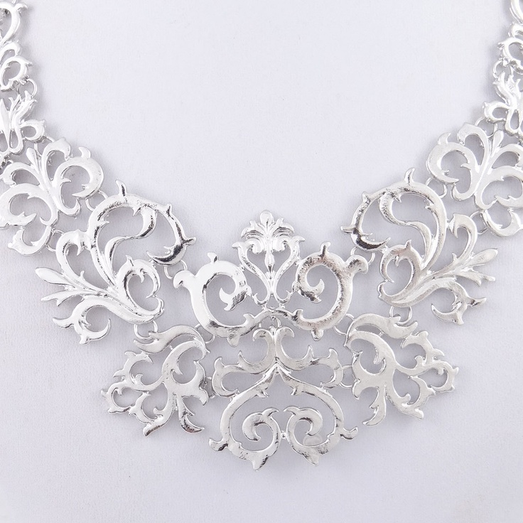 Gorgeous Court Silver Statement Necklace Chunky by BellaJewelry4u, $7.99