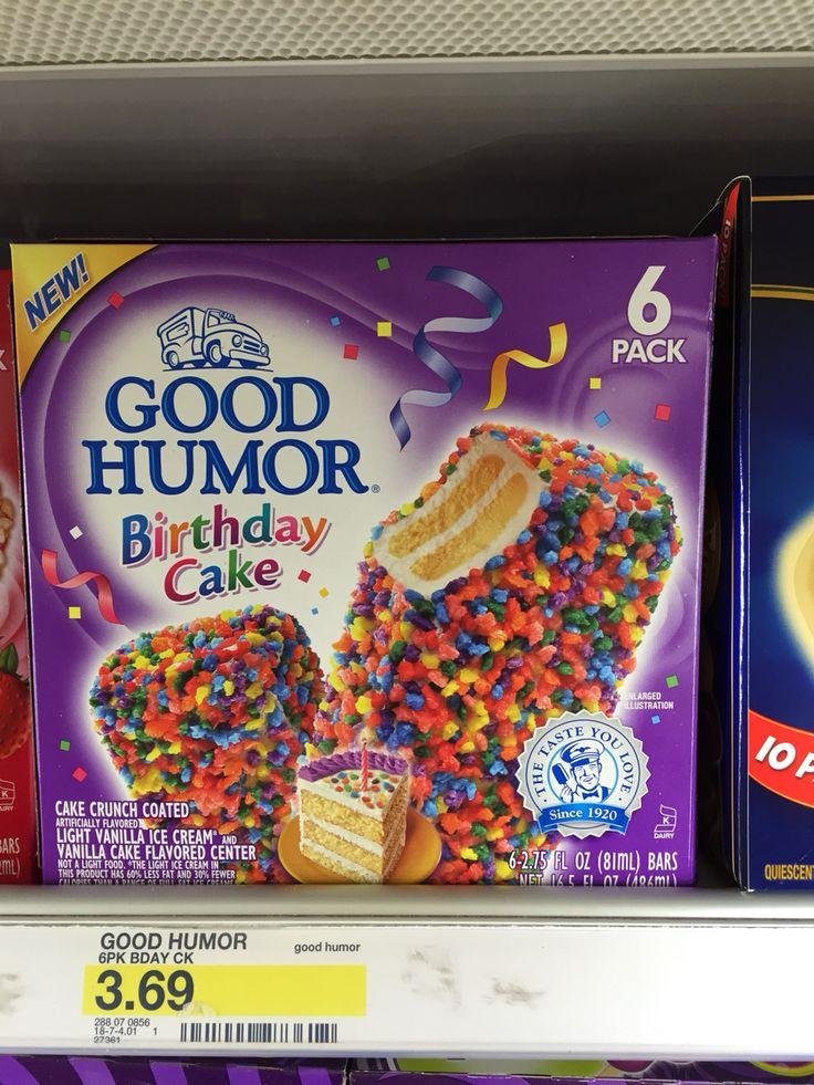 Good humor birthday cake cake crunch coded light vanilla