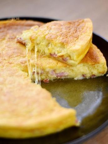 Quiche lorraine façon gâteau magique : Recette de Quiche lorraine façon gâteau magique - Marmiton