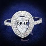 2.2CT Pear Cut Double Halo Russian Lab Diamond Engagement Ring