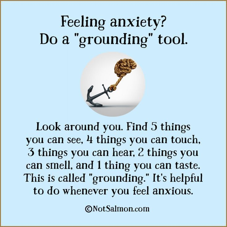 "Feeling anxiety? Do a ""grounding"" tool"