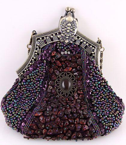 Vintage Beaded Velvet Decorative Purses Victorian Opera Purse