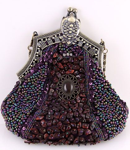 0c04b9a305 Victorian Purses USA Handcrafted Beaded Victorian Evening Bag with look of  Vintage Beaded Handbag Reticule Drawstring