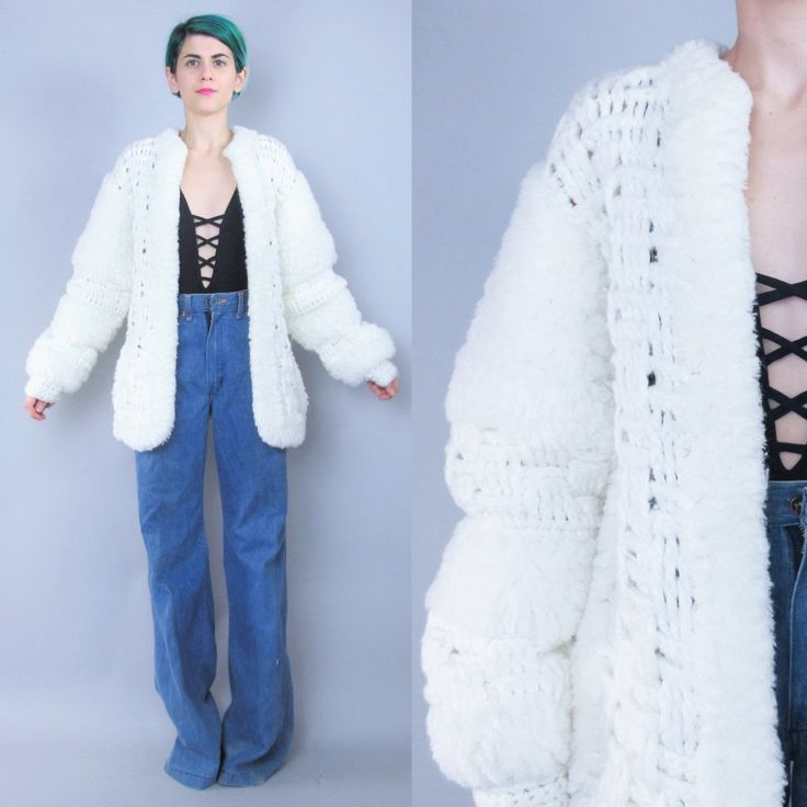 New to honeymoonmuse on Etsy: 1980s Chunky Knit Cardigan Textured Sweater Coat Monster Shaggy Sweater Slouchy Oversize Cardigan Avant Garde Knitted Jumper (L/XL) (90.00 CAD)