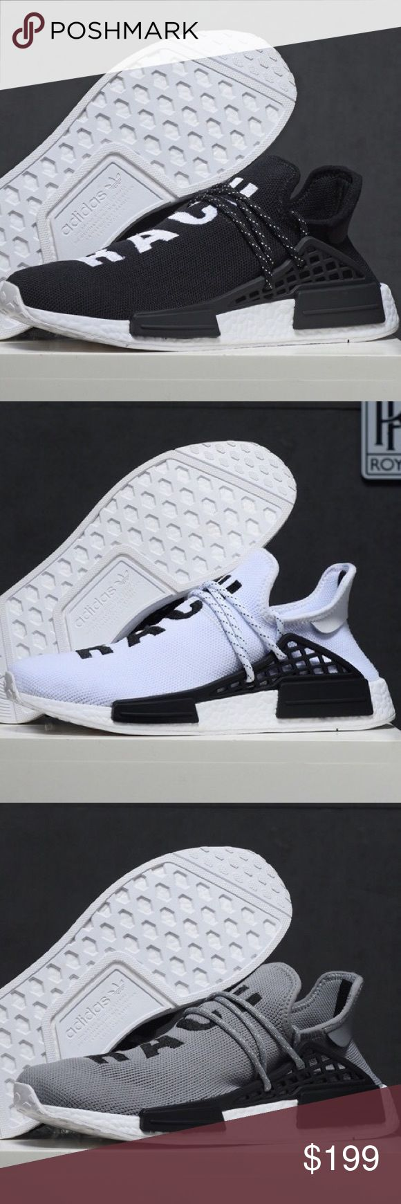 Adidas NMD Human Race fashion sneaker shoes New, comes with box. I don't reply any comment, Please contact me at:catinaholmessc@gmail.com ————————————————— Men mens womens women nike vans converse adidas puma roshe air max athletic sports white pink bl