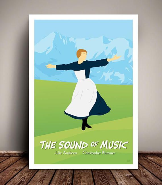 The Sound Of Music // Minimalist Movie / Musical Poster //