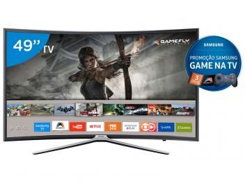 "Smart TV LED Curva 49"" Samsung Full HD 49K6500 - Conversor Digital 3 HDMI 2 USB Wi-Fi - Magazine Gileo"