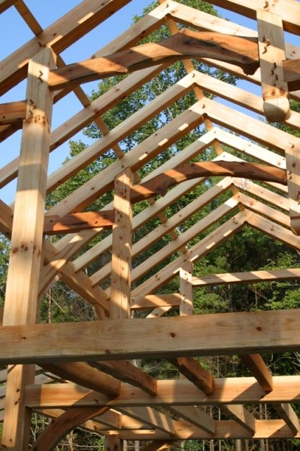 A quick look at hybrids vs full timber frames posts for Porte cochere vs carport