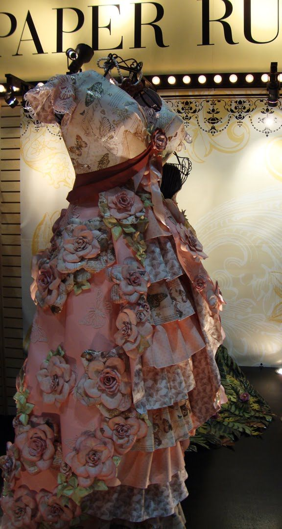 Carmi's Art/Life World: DCWV - The Paper Dresses From CHA