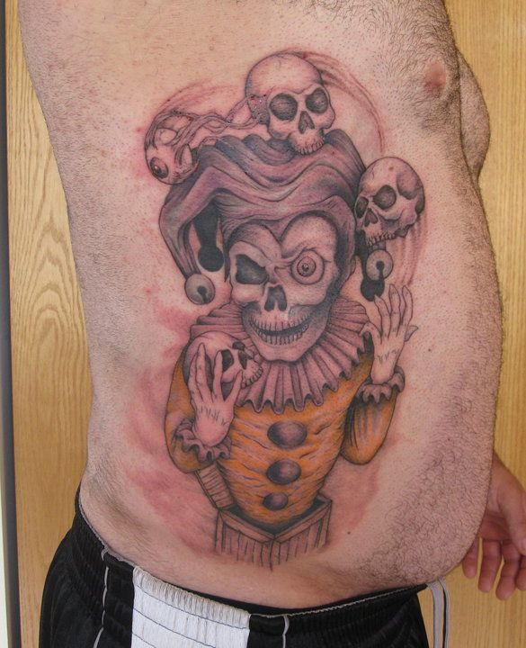 Evil Jester Tattoo.... | Tattoos that I Have Done ...