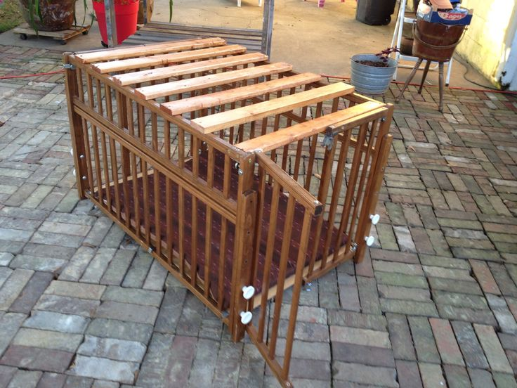 Dog Crate Out Of A Baby Crib Animals Pinterest Baby