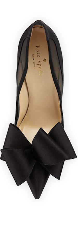 The mesh at the top with the sculptural bow is beautiful! Kate Spade New York