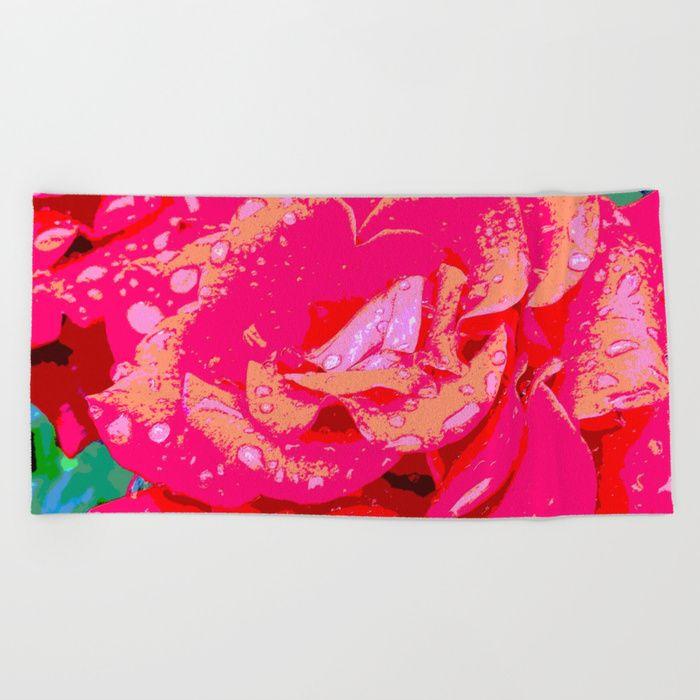 Rose Beach Towel by LisaMc | Society6