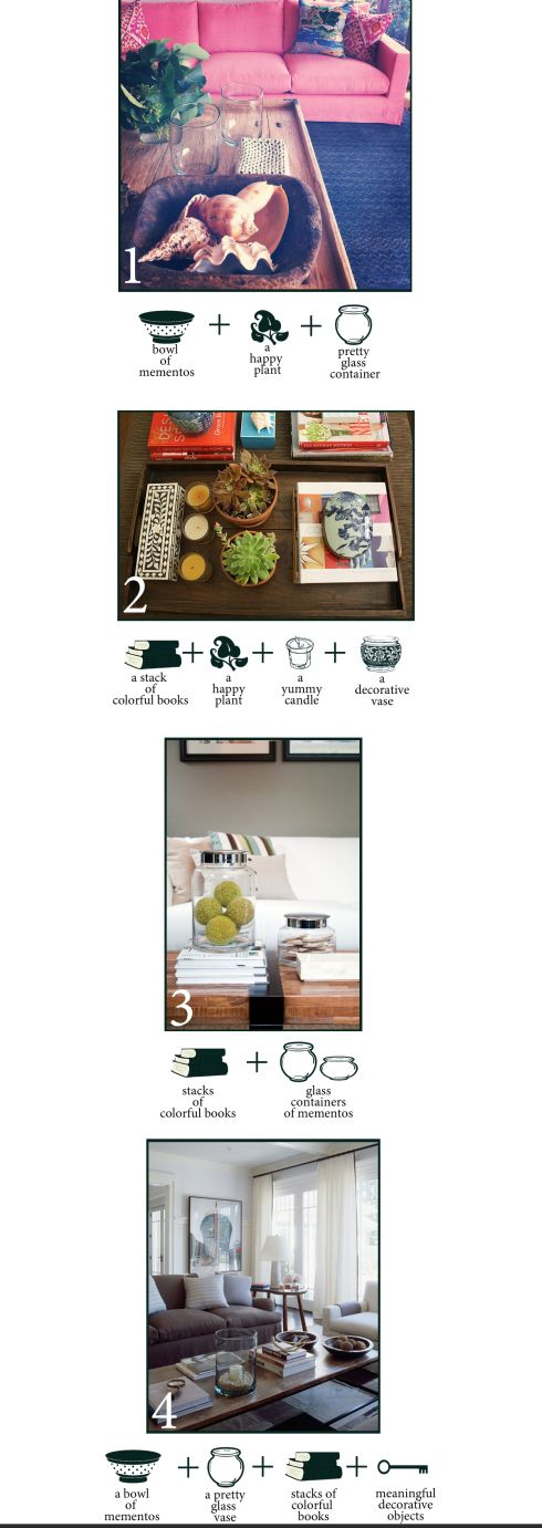 Coffee Table Styling Formula
