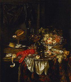 Naturaleza muerta de un banquete con un ratón (Banket), es una pintura del artista holandés Abraham van Beyeren, custodiada en el Museo de Arte del Condado de Los Ángeles en los Estados Unidos. Se trata de un óleo sobre lienzo que mide 141,5 cm de alto por 122 cm de ancho. Está datada en el año 1667.  Este cuadro es un bodegón típico de van Beyeren, que solía representar con bastante exactitud lujosas mesas con todo tipo de productos alimenticios. Resulta llamativa la langosta del primer…
