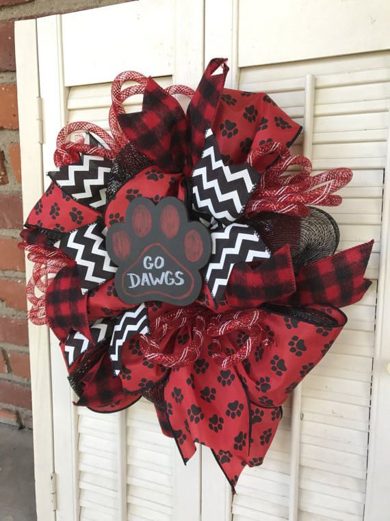 Georgia Bulldogs Wreath Small Georgia by Underthekentuckysun