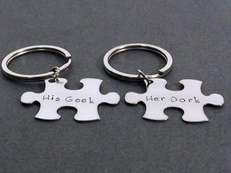 His Geek Her Dork Couples Keychains, Puzzle Piece Keychain Set, Valentines Day Gift, Couples Gift, Geekery, Geek Gift, Geek Couples,Set of 2  Want more business from social media? zackswimsmm.tk