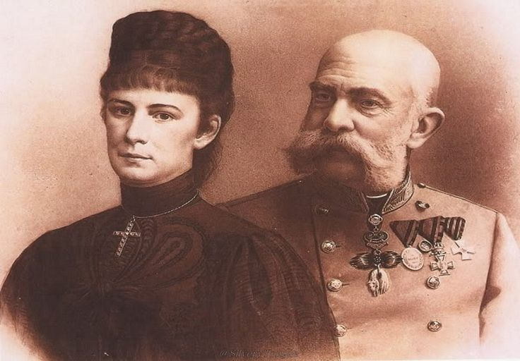 Emperor Franz Joseph and Empress Elisabeth in the 90'