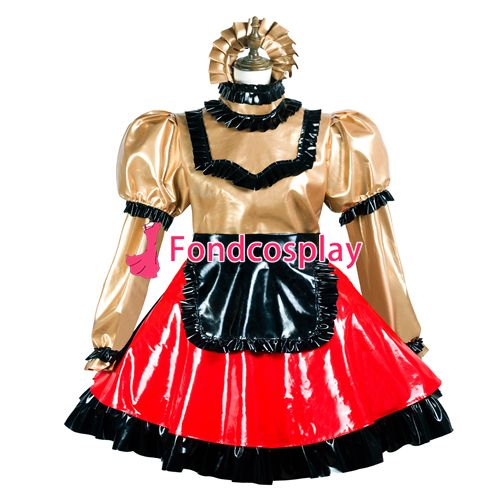 Sissy maid pvc dress lockable Uniform cosplay costume Tailor-made[G3737] #Affiliate