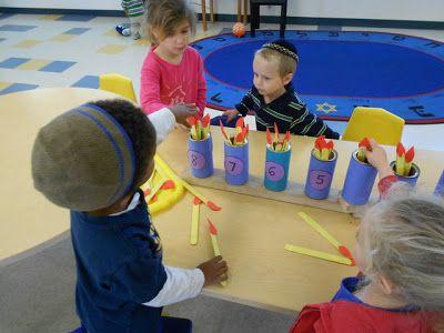 Gan Camarillo Preschool: Menorah + Candles = Math Mania!