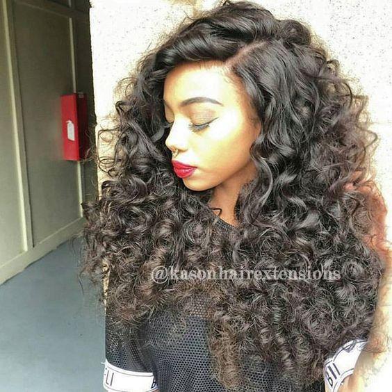 Top Garde Unprocessed Peruvian Virgin Hair Full And Soft 100% Human Hair Extensions Loose Curls