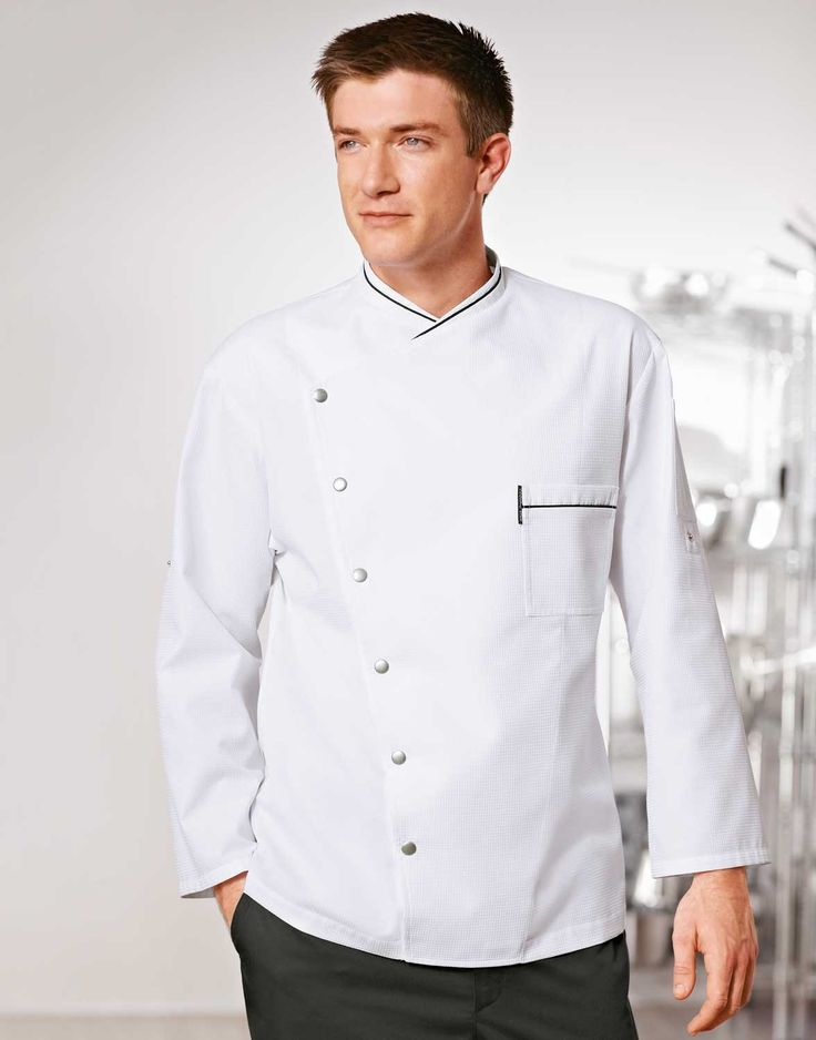 Chicago Chef Jacket - Honeycomb Weave - White