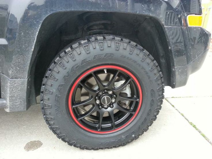 Goodyear DuraTrac 225-75-16s. No lift. - Jeep Patriot ...