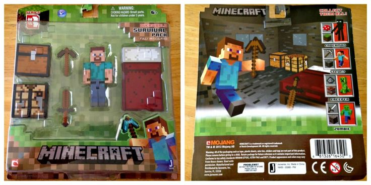 Minecraft Overworld Survival Pack (front and back of box)