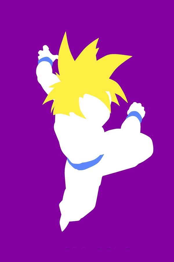 The characters of Dragon Ball Z in minimalist designs | Things for Geeks
