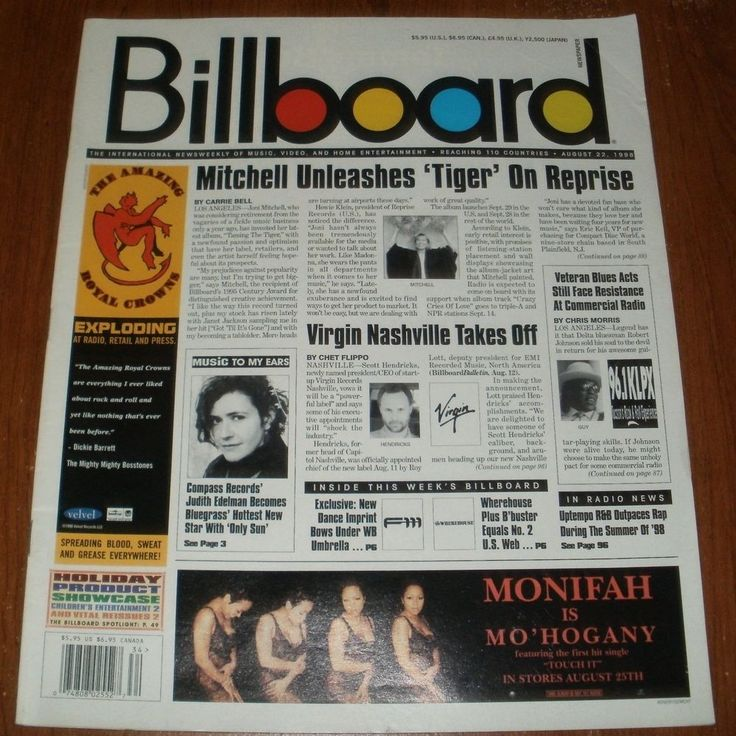 Billboard Magazine August 22 1998 Monifah Bluegrass Star