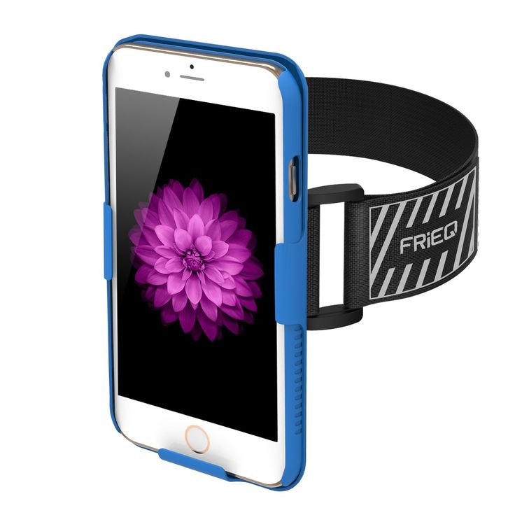 iPhone 6 Armband, FRiEQ Armband for Apple iPhone 6 - Lightweight & Fully Adjustable - Ideal for Workout, Hiking, Jogging, Gym, Running or Other Sports (Blue)