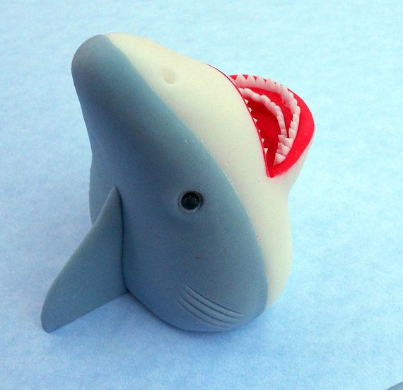 Shark Cake Topper Looks Like It S Jumping Out Of The