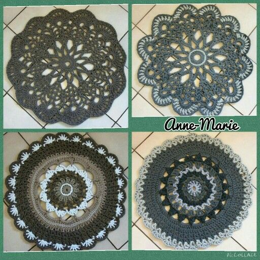 Anabelia doily pattern and no pattern for the bottom two.