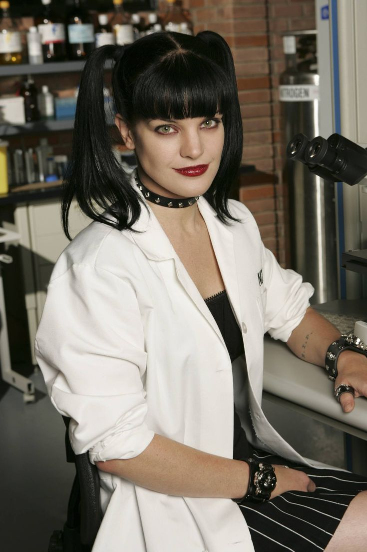 Pauley Perrette as Abby, forensic scientist on NCIS - a goth chick with a heart of gold