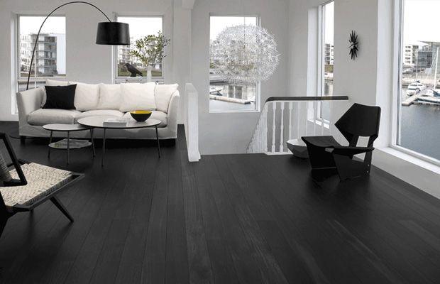 Woonstijl Black and White - Appartement met zwarte pvc-vloer